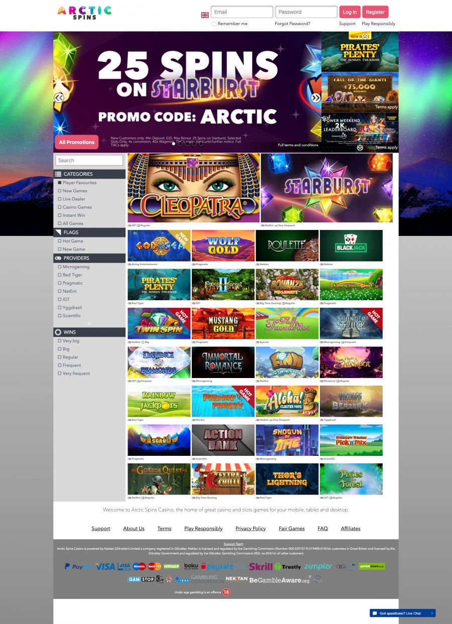 Arctic Spins Casino  screenshot