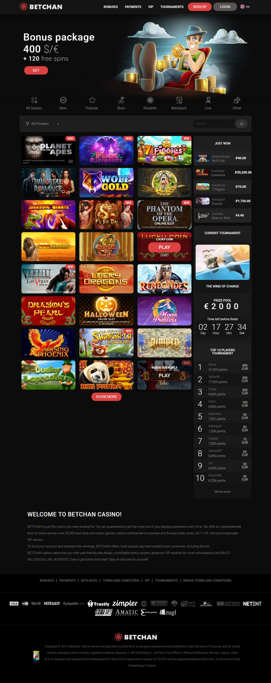 Betchan Casino  screenshot
