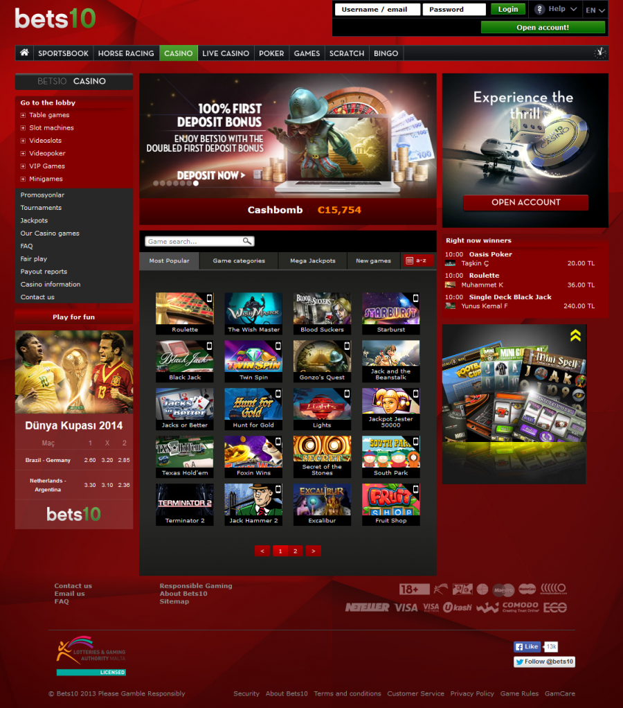 Bets10 Casino  screenshot
