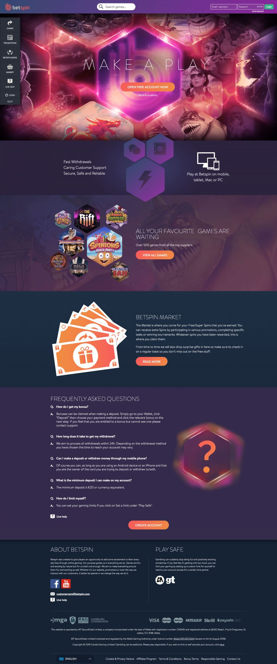 Betspin Casino  screenshot