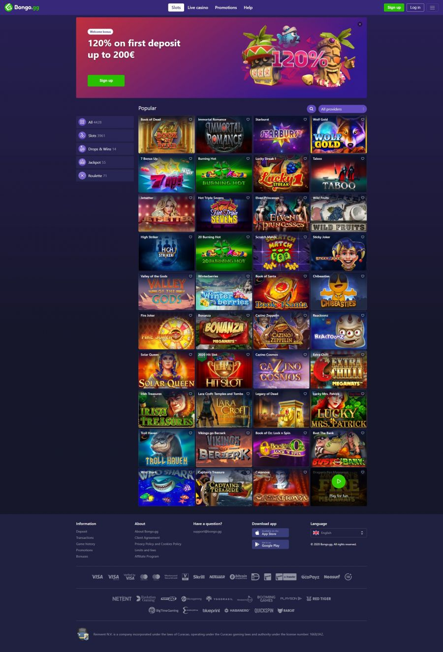 Bongo Casino  screenshot