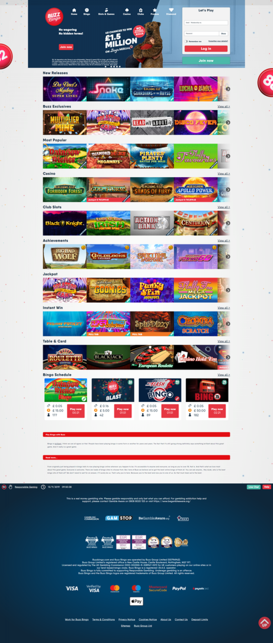 Buzz Bingo Casino  screenshot