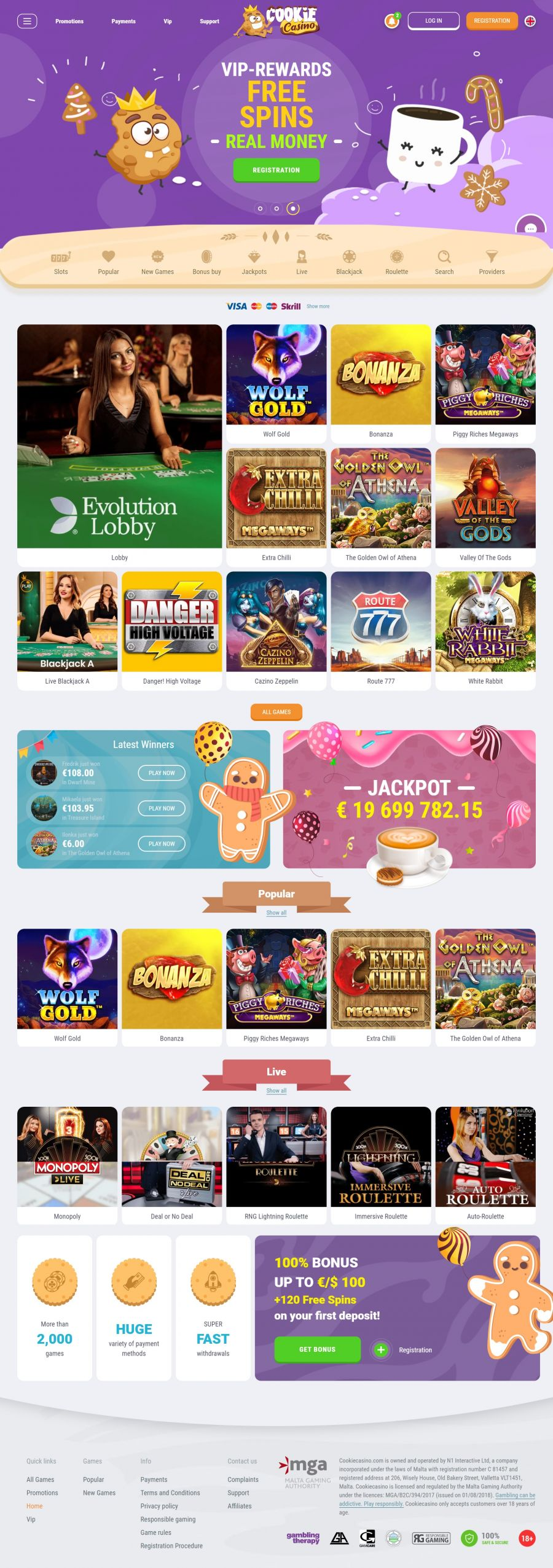 Cookie Casino  screenshot