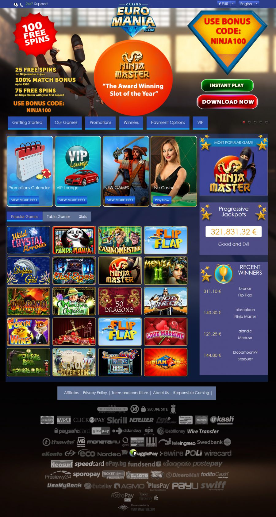 Euro Mania Casino  screenshot