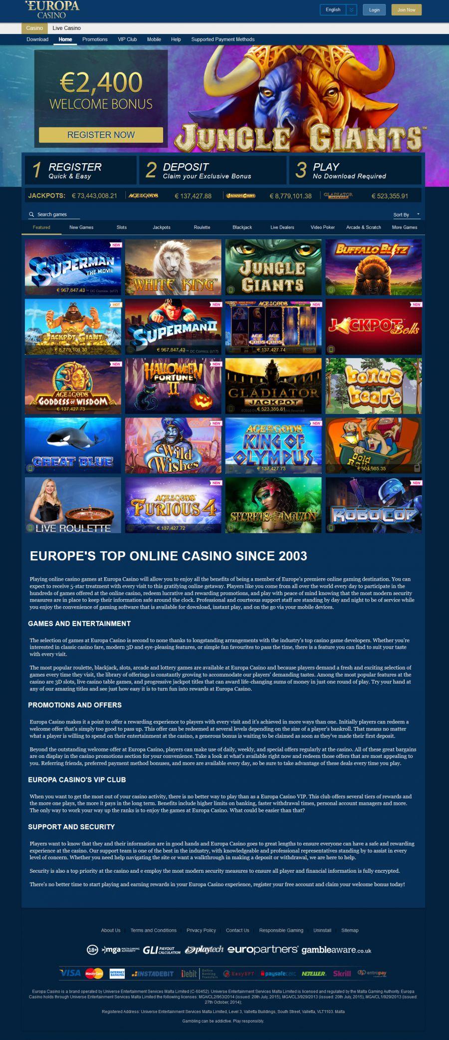 Casino Europa Mobile