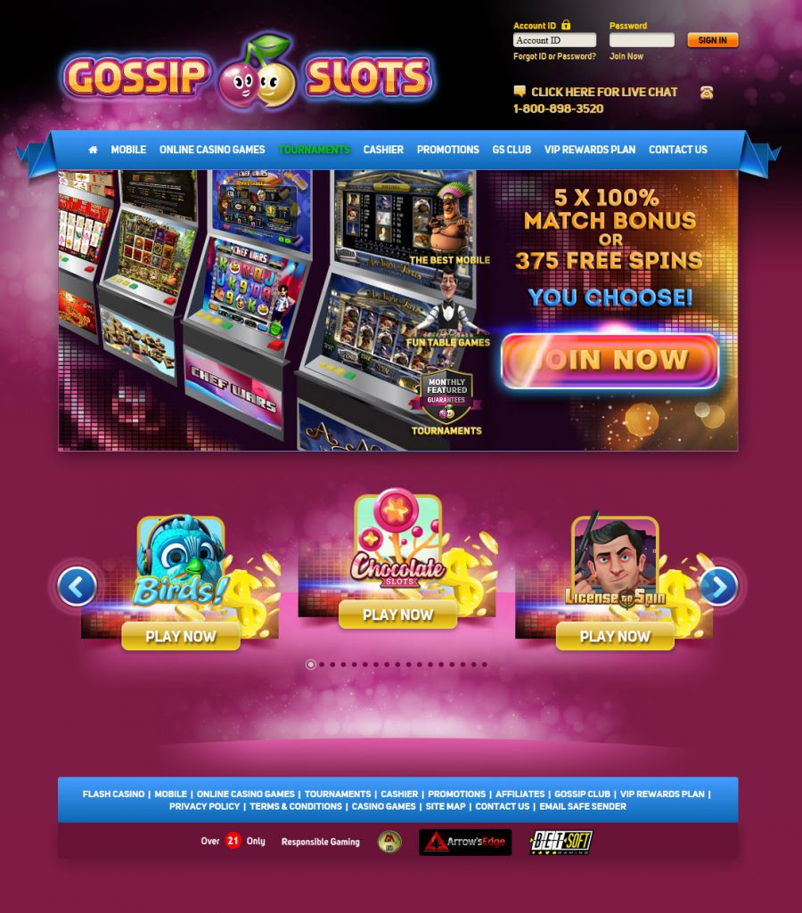 Gossip Slots Casino  screenshot