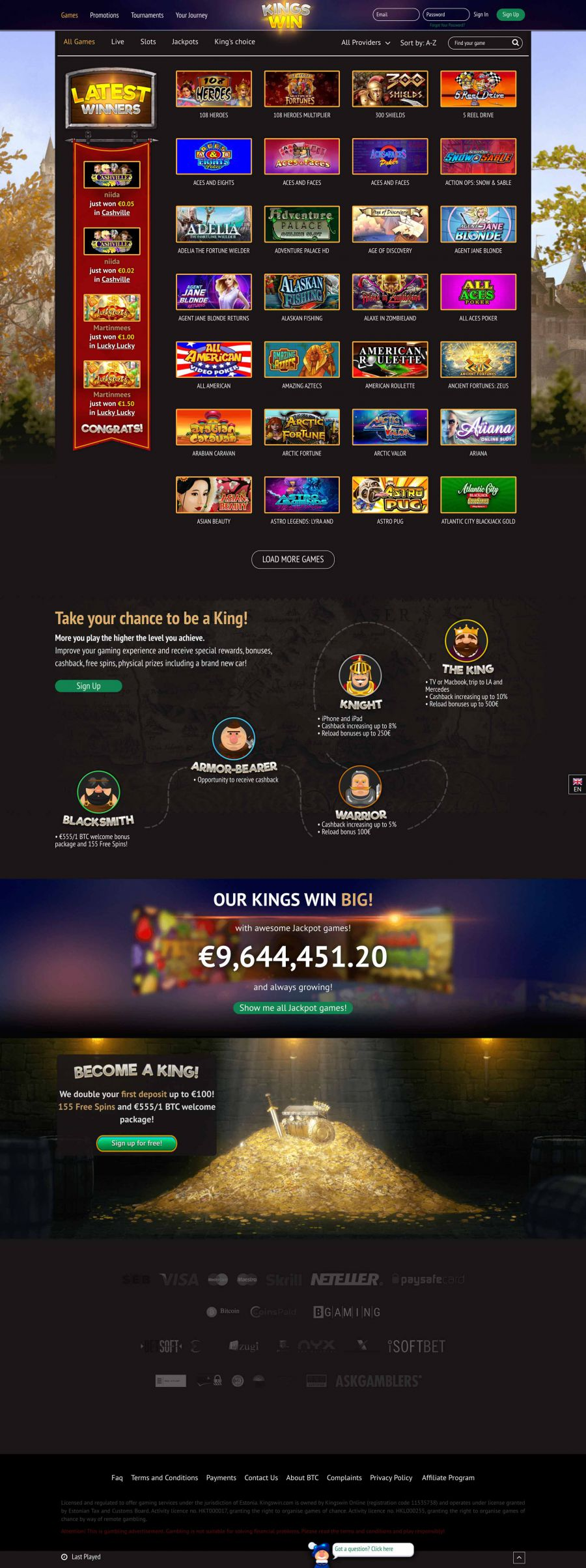KingsWin Casino  screenshot
