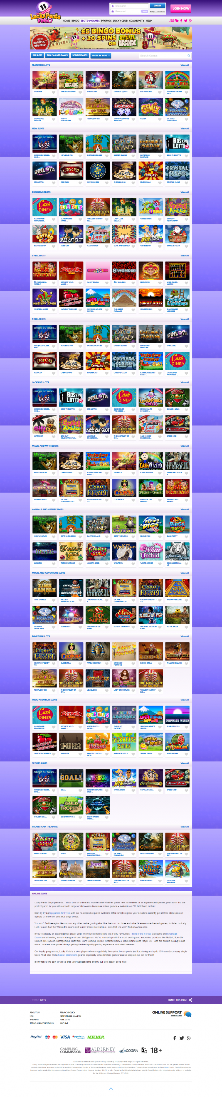 Lucky Pants Bingo Casino  screenshot