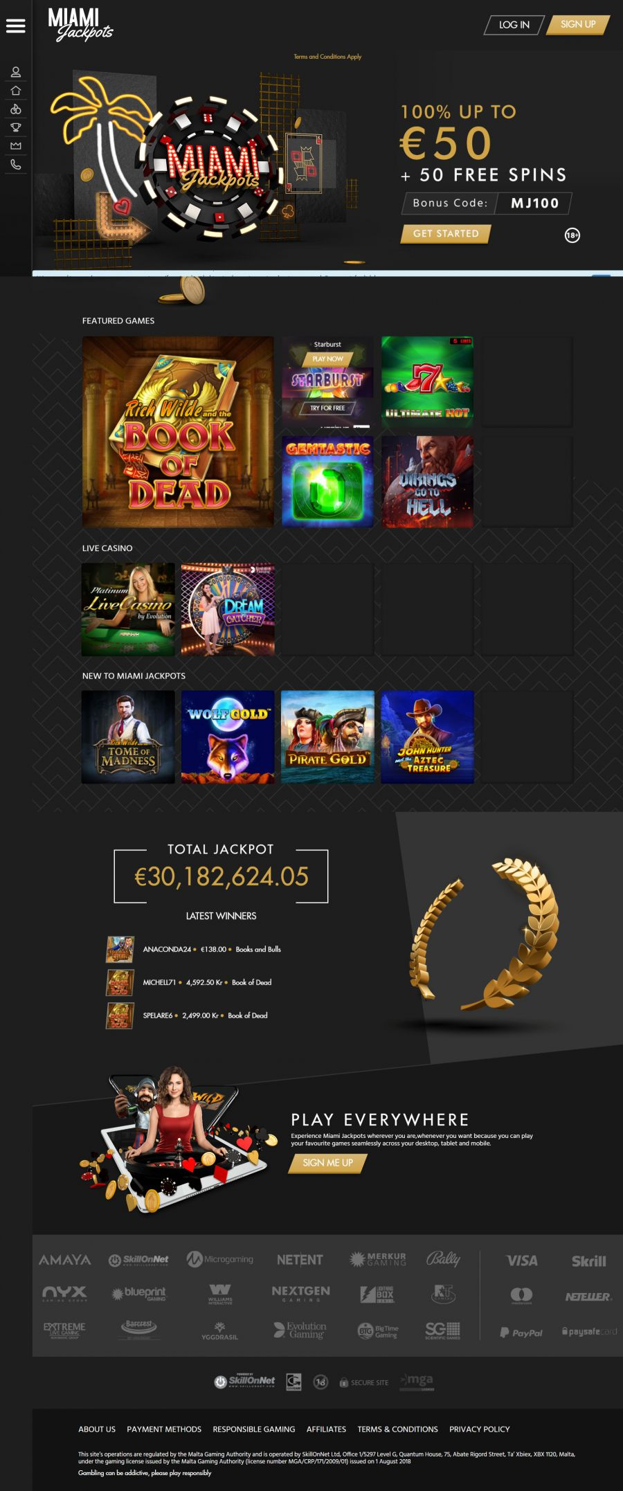 Miami Jackpots Casino  screenshot