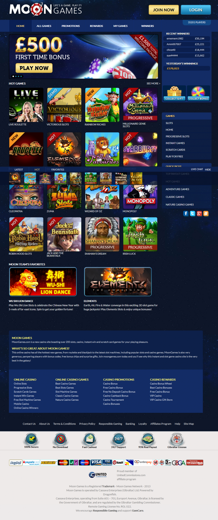 Moon Games Casino  screenshot