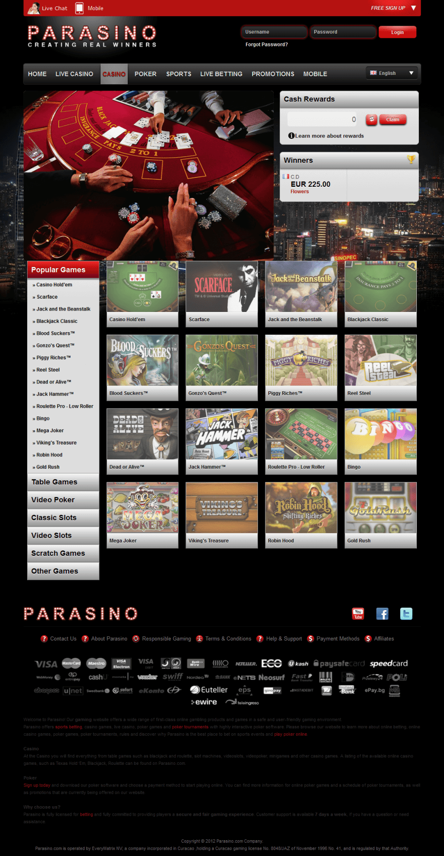 Parasino Casino  screenshot