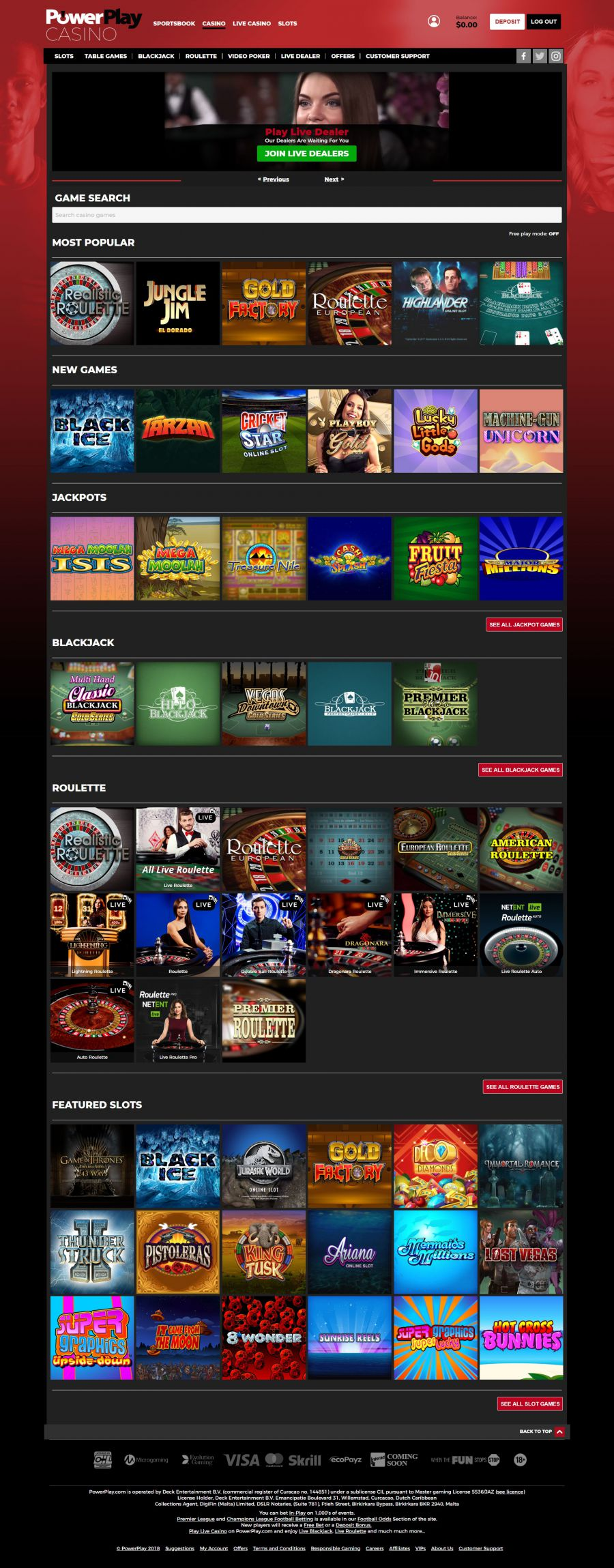 PowerPlay Casino  screenshot