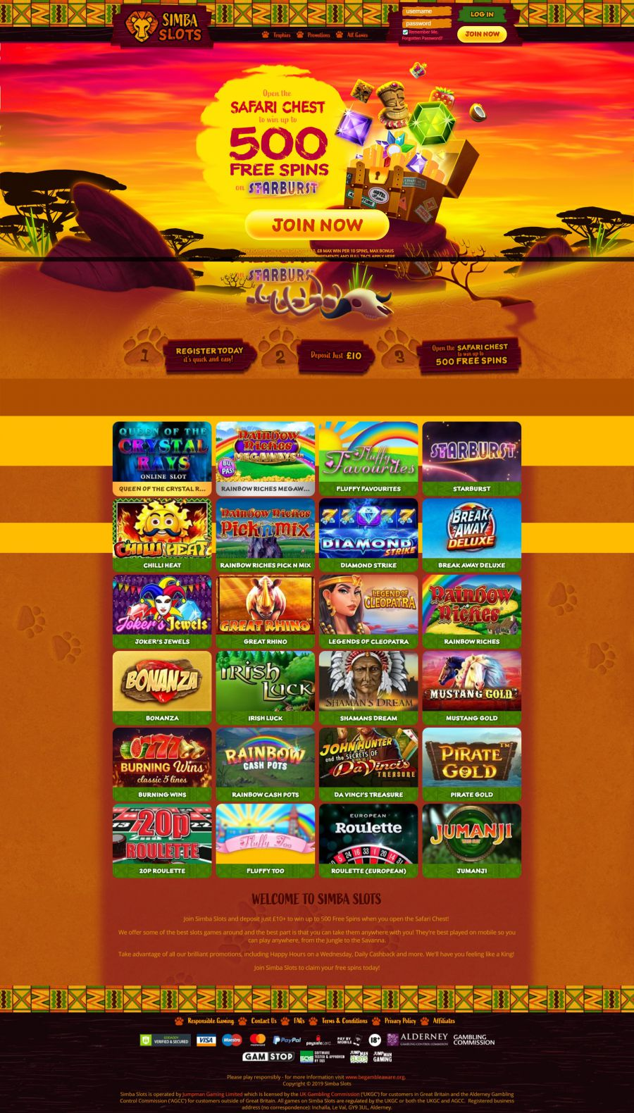 Simba Slots Casino  screenshot