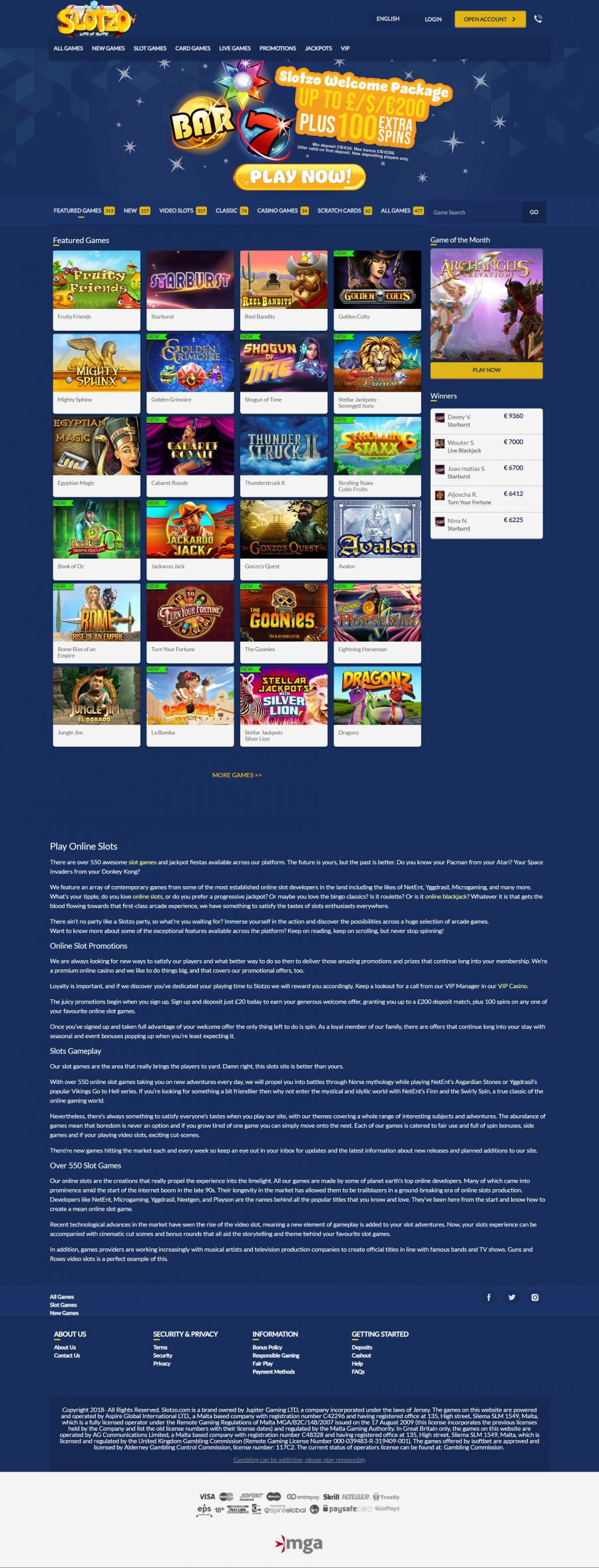 Slotzo Casino  screenshot