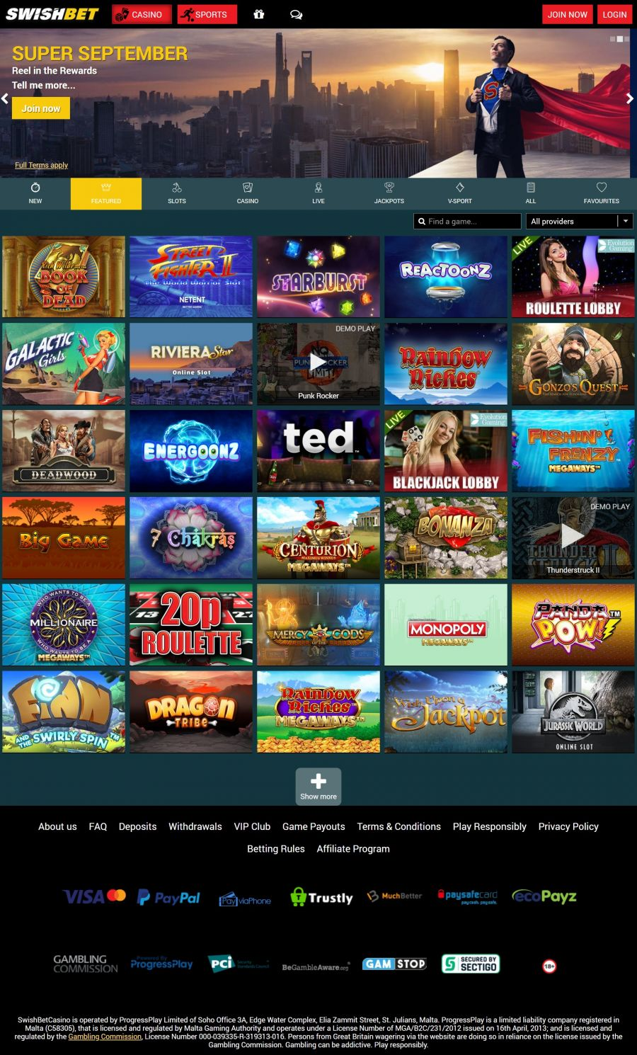 SwishBet Casino  screenshot