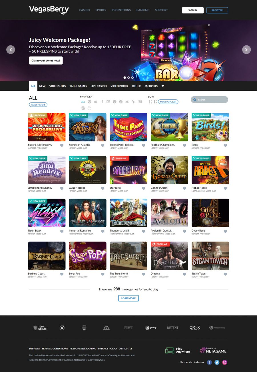 Vegas Berry Casino  screenshot