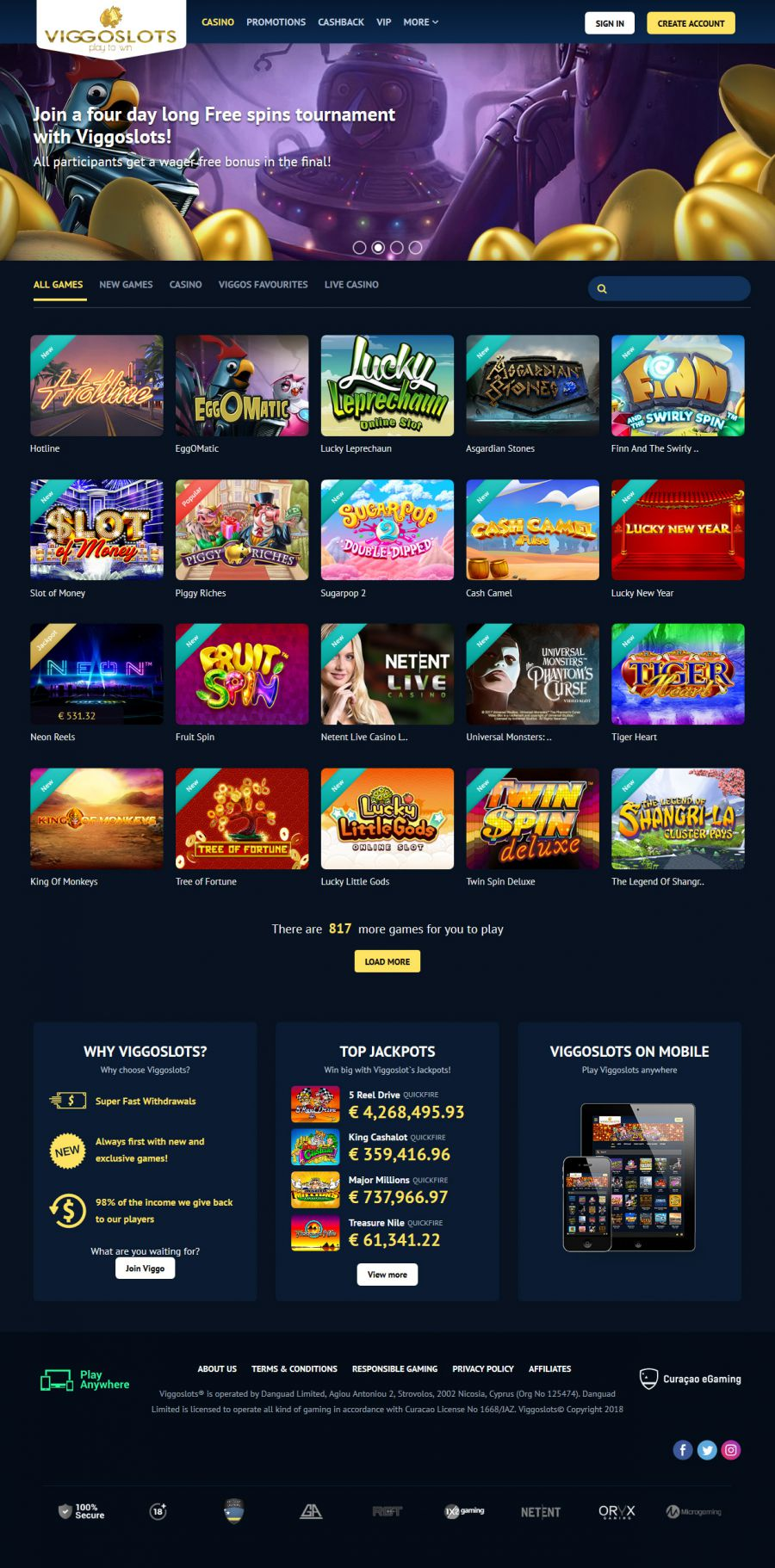 Viggoslots Casino  screenshot